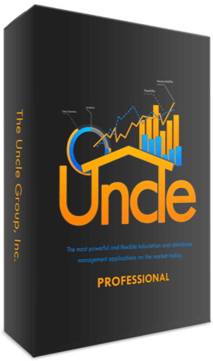 Uncle Professional tabulation and database enterprise solution software box